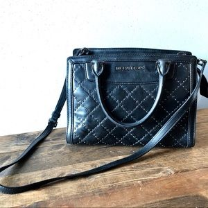 Micheal Kors Black Leather Handbag